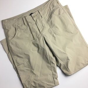 The North Face   Khaki Cargo Pants w/ Tie Up Legs